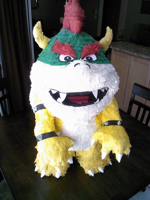 King Koopa Pinata by SmashingFunCreations on Etsy