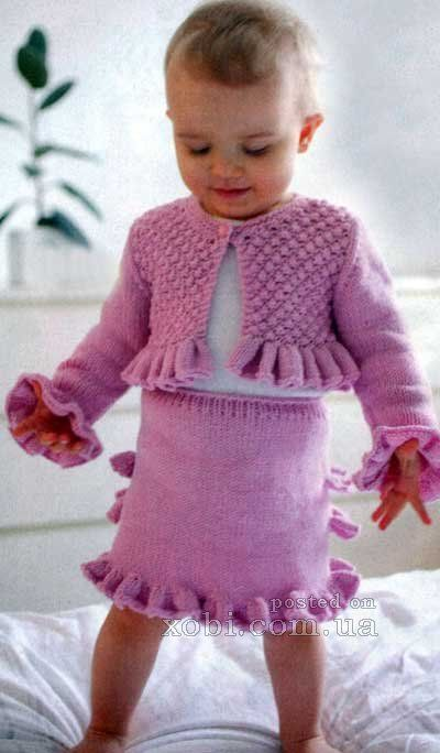 pink dress with ruffles for girls (80-100 cm)