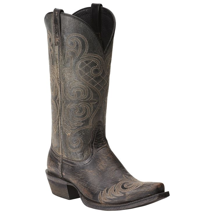 Ariat Women's Bright Lights Cowgirl Boots - Rustic Black 10015375
