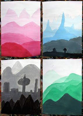 Art With Mr Hall: Value Landscapes