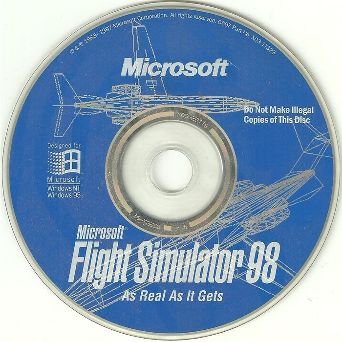 PC Software Microsoft Flight Simulator 98 Game CD-ROM Windows NT & 95 Listing in the PC Engine,Vintage & Retro,Video & Computer Gaming Category on eBid Canada   156199761 CAN$10.00 + shipping