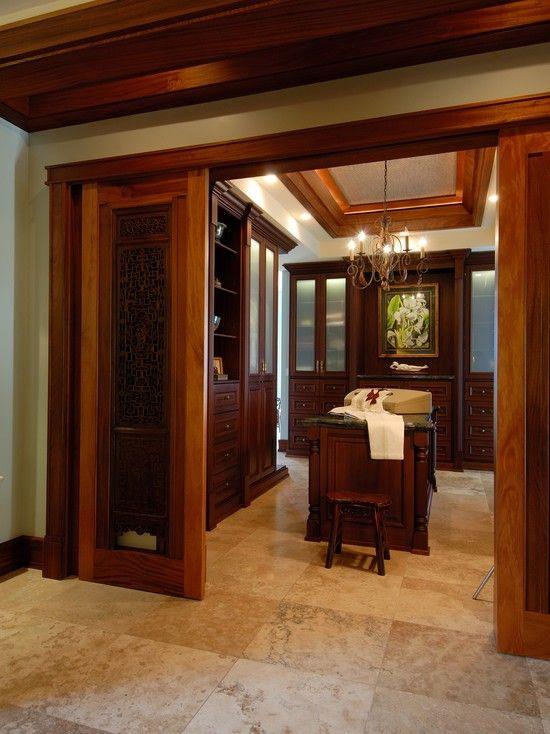 Chandelier And Sliding Doors