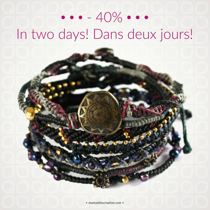Dans deux jours, tous les produits Wakami seront  en solde à 40%.   À ne pas manquer!   In two days all our  Wakami products will be  on sale at 40% off.  It's an occasion you don't  want to miss.  Mark your calendars!