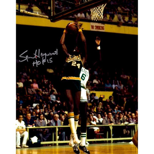 "Spencer Haywood Seattle Supersonics Fanatics Authentic Autographed 8"" x 10"" Passing Photograph with HOF 15 Inscription - $59.99"