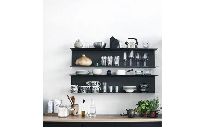 Mooi voor in de keuken: zwevende planken