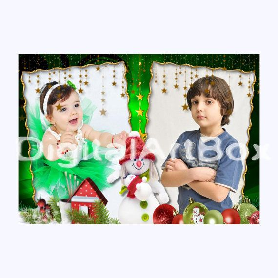 Custom Photo Christmas CardCHRISTMAS Presents by DigitalArtBox