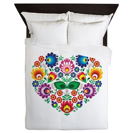 Traditional Polish floral folk embroidery pattern on CafePress.com