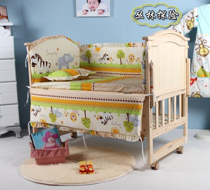 kids sheet and bumpers for cribcotbaby crib bedding set on sale