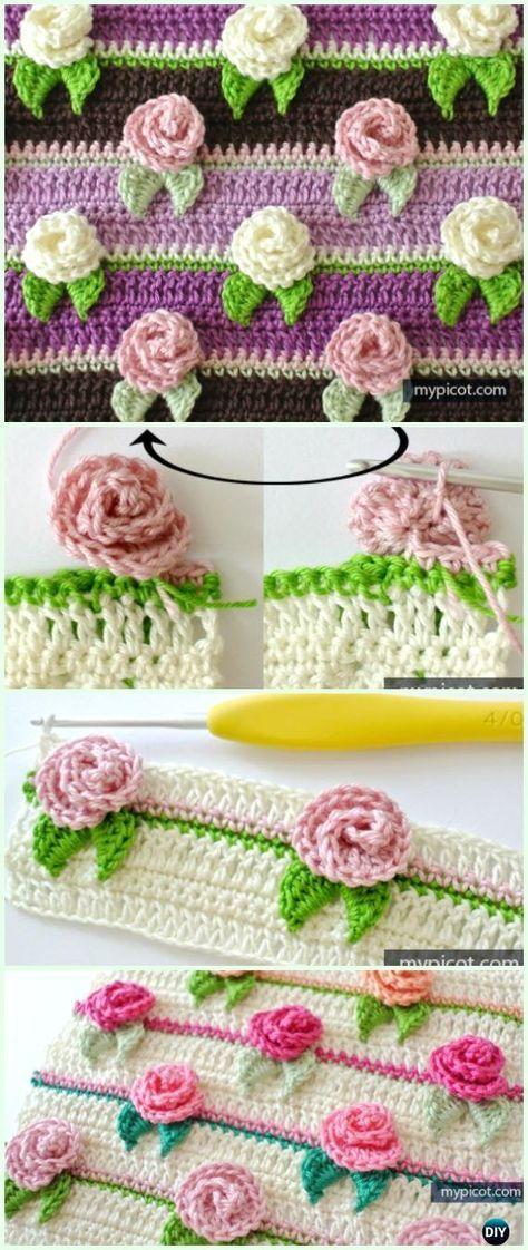 Crochet Rosebud Stitchfree Pattern Crochet Flower Stitch Free