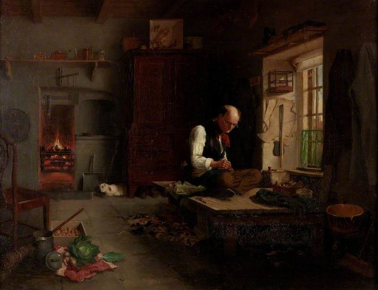 The Village Tailor by Henry Hetherington Emmerson, c.1851