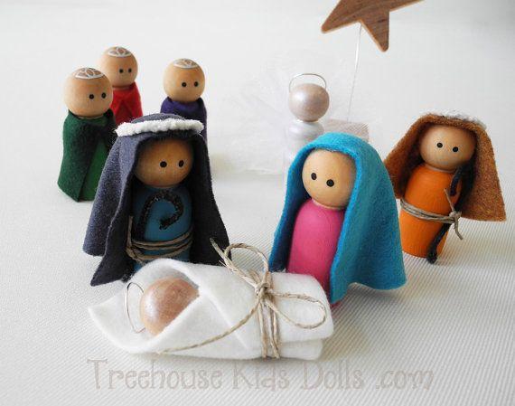 Decoración de la Navidad conjunto Natividad por DressyDollsCompany