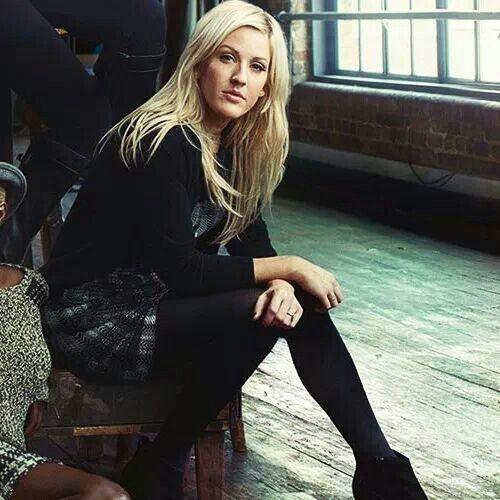 Ellie Goulding, plaid winter shorts.