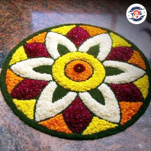 Rangoli Designs for #GudiPadwa to decorate your home with this flower rangoli.