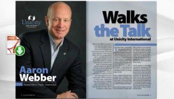 "Aaron Webber, Brand-New Triple Diamond ""Walks the Talk"" at Unicity International"