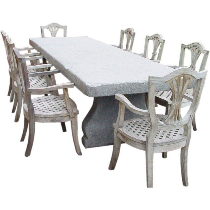 158 best Exterior Furniture - Dining Table images on Pinterest ...