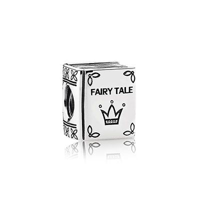 Remember the enchanting fairy tales of your childhood with this sterling silver fairy tale book charm. Featuring intricate engraved details, a crown on the front cover adds a sense of whimsical royalty. #PANDORA #PANDORAcharm