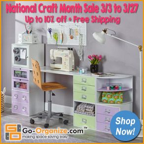 SAVE on NEW #Crafting & #Home #Storage and #Organization products from Go-Organize.com! Right now you can SAVE BIG during their #NationalCraftMonth Sale & Get FREE Shipping! Click this image to start shopping & saving! #organize #organizing #organization #storage #crafting #scrapbooking #papercrafting #cardmaking #stamping #sewing #quilting #jewelrymaking #beading #knitting #crocheting #kidsrooms