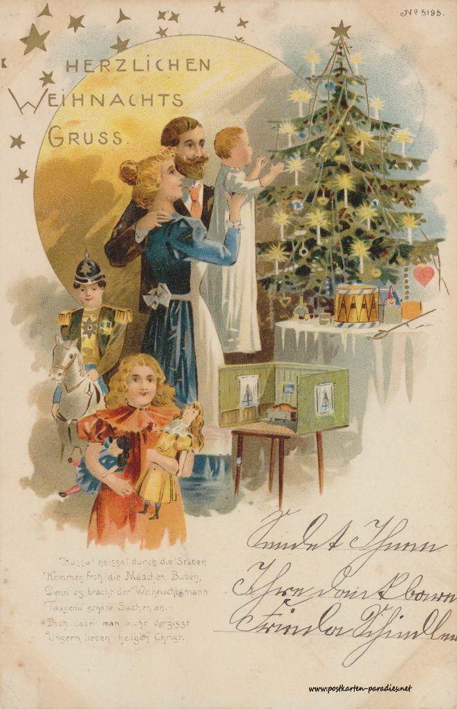 Alte weihnachtskarten mit frauen m dchen familien alte postkarten pinterest karten - Weihnachtskarten bilder ...