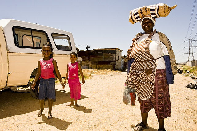 The vibrant lively Township Langa in Cape Town, South Africa