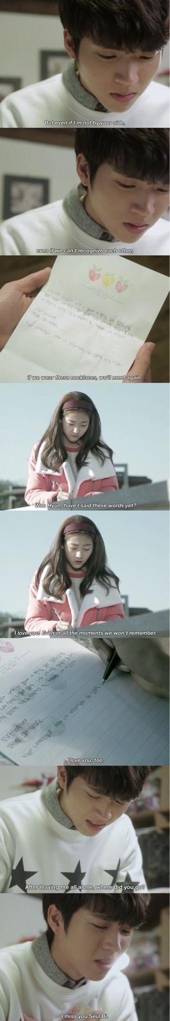 Hi School Love On Ep 20 Seul Bi s love letter to Woo hyun