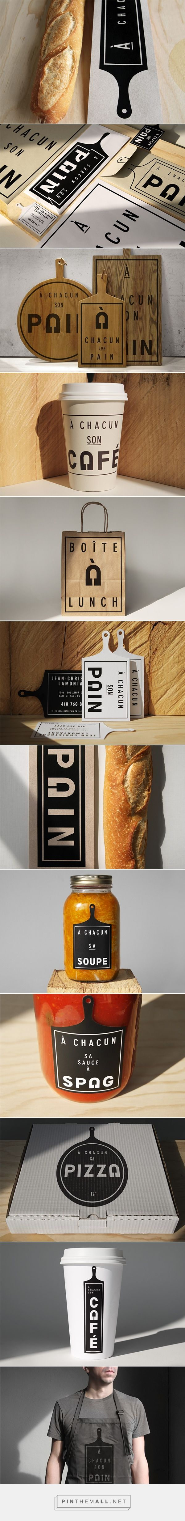 À chacun son pain by Paprika on Behance curated by Packaging Diva PD simple and compelling #packaging created via https://www.behance.net/gallery/21936941/A-chacun-son-pain-Branding