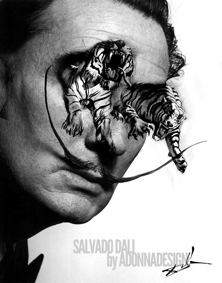 Salvador Dali photo_art by aDONNAdesign