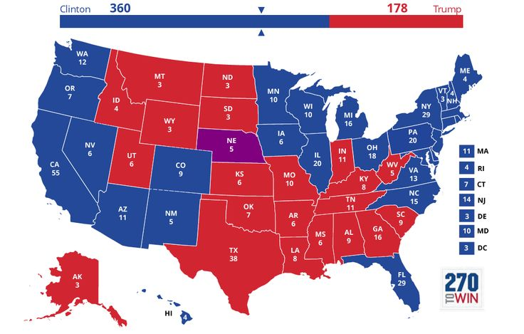 2016 Presidential Election Interactive Map - Personal prediction for Nov. 8th 2016 results.