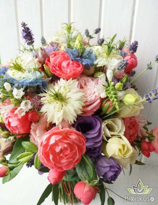 Summer bouquet #eustomy #nigella #lavender #rose #kwiaty #kwiatki #bukiet #bouquet #wedding #flowers #gardenflowers