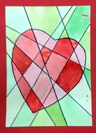 valentine art projects for elementary students