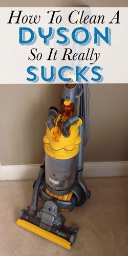 Has your Dyson stopped sucking? It's easy to clean a Dyson and you will notice such a difference in the power just by cleaning it.