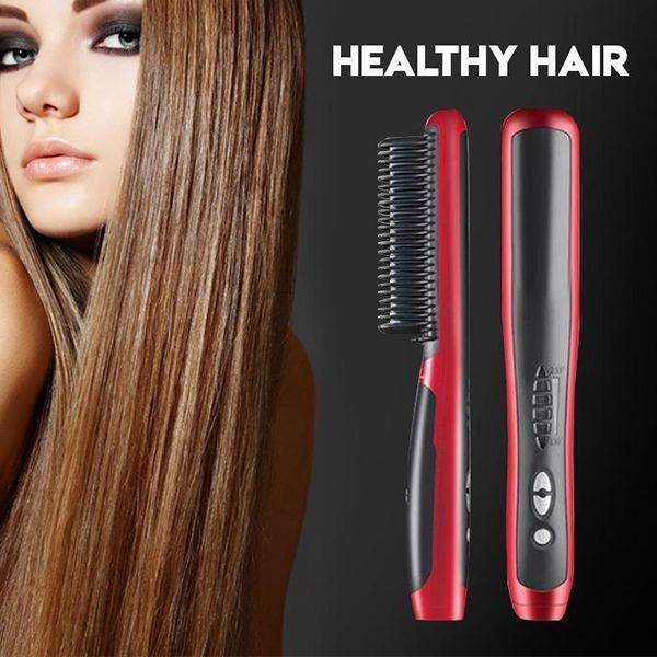Newyear Discount Hair Straightening Styler 50 Off In 2020 Styling Comb Hair Straightener Best Hair Straightener