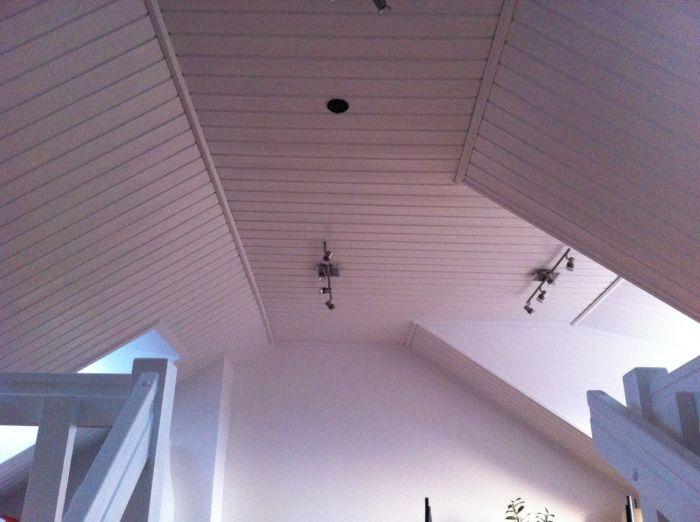 Hvitmalt tak på #loft. #Hvitt #Maling #Beis