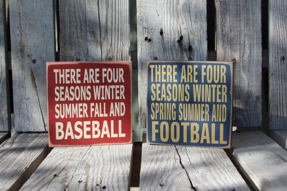 Baseball football sports basketball soccer FOUR SEASONS  personalized SPORTS wood sign kids home decor personalized gift on Etsy, $13.95