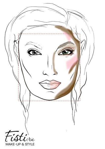 Макияж для квадратной формы лица