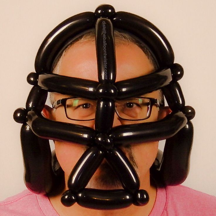 Darth Vader mask on a hairband. Inspired from several designs.