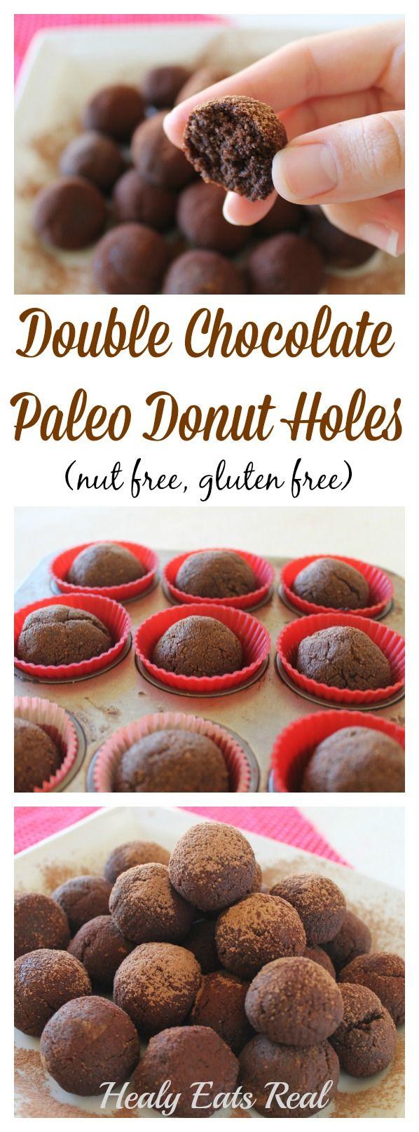 Chocolate Paleo Donut Holes (Gluten Free, Nut Free) @ Healy Eats Real