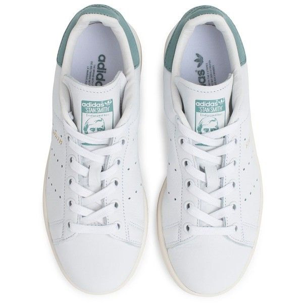 Adidas Stan Smith Shoe found on Polyvore featuring shoes, sneakers, adidas shoes, adidas, tenny shoes, leather footwear and leather shoes