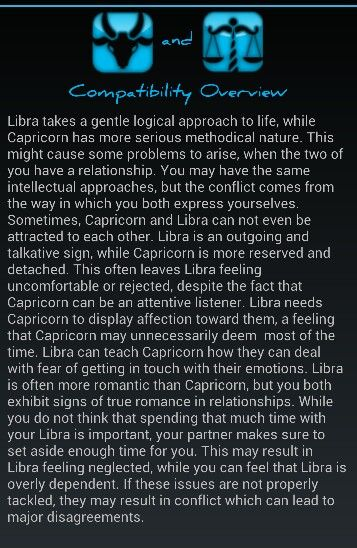 Libra and capricorn horoscope