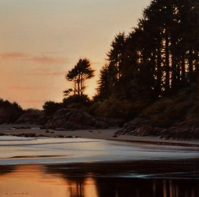 Shoreline in Fading Light, by Ray Ward
