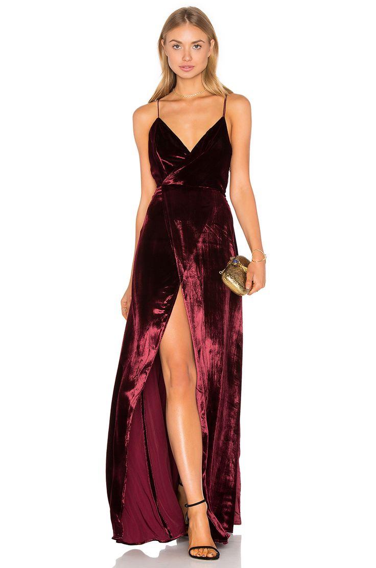 THE JETSET DIARIES Atlas Maxi Dress в цвете Темно-красный | REVOLVE