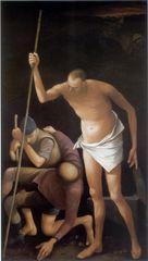 Volker Stelzmann, 'Resurrezione (Auferstehung)', 1997, Mischtechnik auf Nessel auf Hartfaserplatte, 220 x 125 cm