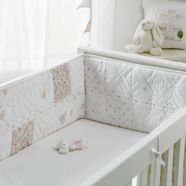 Anastasia Cot Quilted crib Bumper | The White Company