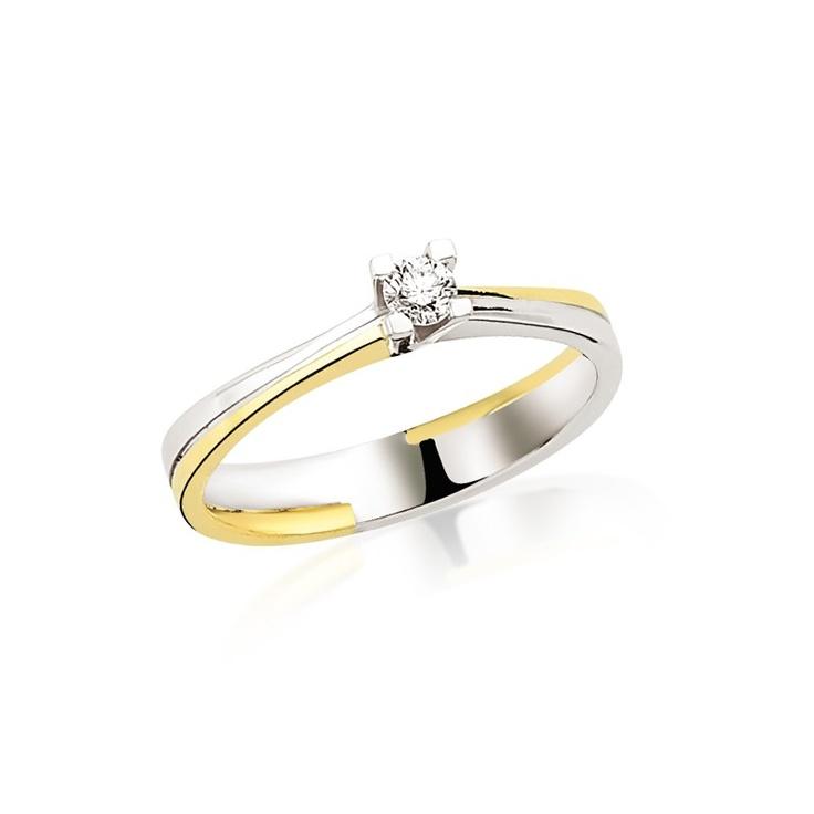 Realizat in combinatie de aur alb si aur galben, cu montura joasa, inelul de logodna LRY142 se asorteaza usor oricarei tinute. Pretul acestui inel de logodna cu diamant de 0.14 carate si aur 18K este de 2592 lei. http://www.bijuteriilarosa.ro/inel-logodna-lry142