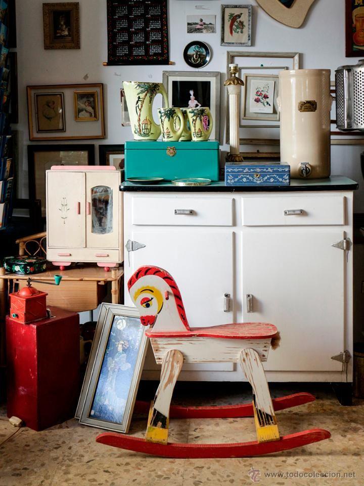 Mueble de cocina a os 60 madera y formica desv n de for Muebles de cocina anos 80