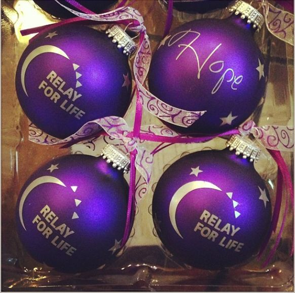 Relay For Life Christmas Ornaments - Made these with my silhouette cameo!
