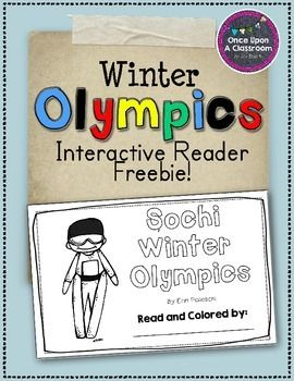 Sochi - Winter Olympics - Interactive Reader Freebie!