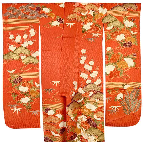 正絹振袖着物の写真