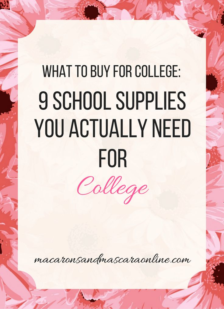 School Supplies You Actually Need For College