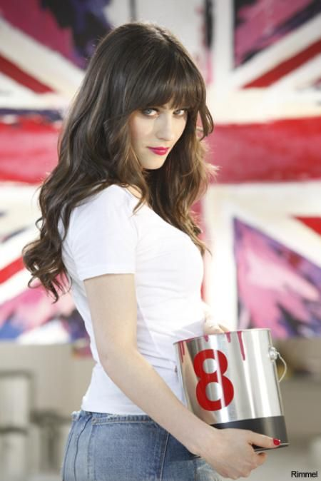Behind the Scenes with Zooey Deschanel in Rimmel Ad