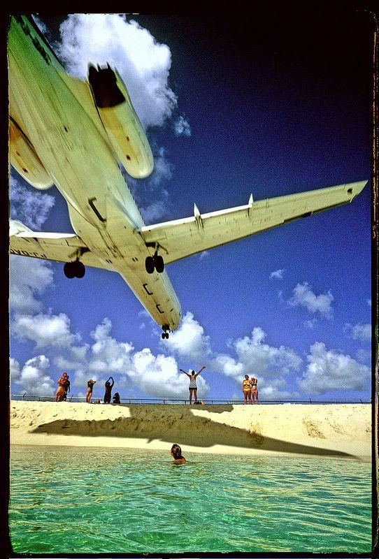 Maho Beach, Caribbean island of Saint Martin